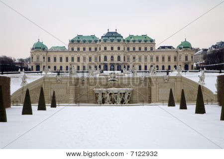 palace - Belvedere in vienna - winter