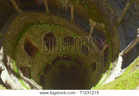 The Initiation well of Quinta da Regaleira in Sintra.