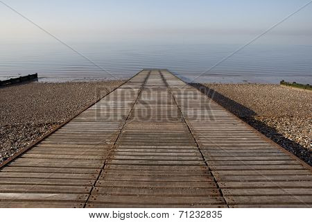 Slipway to ocean at Herne Bay in Kent