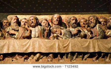 last supper of Christ - Notre-Dame cathedral in Paris