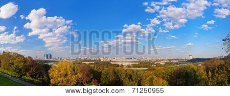 Panorama Of Moscow Russia