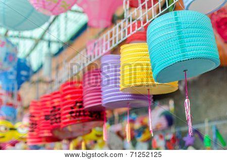Lanterns for sale at Chinatown, Saigon, Vietnam.