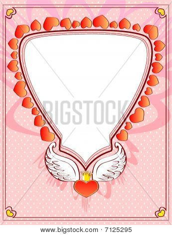 Heart with wings and crown