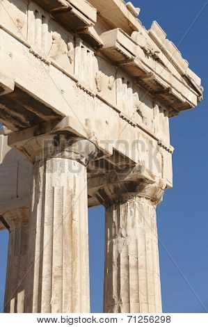 Acropolis Of Athens. Parthenon Frieze. Greece