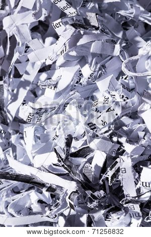 shredded paper, symbolic photo for data destruction, documentation and legacy data