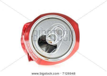 Flattened Soda Can