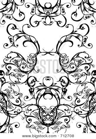 Swirls - Black On White