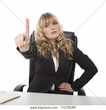 Manageress Admonishing A Junior Employee