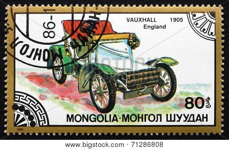 Postage Stamp Mongolia 1986 Vauxhall 1905, Classic Car
