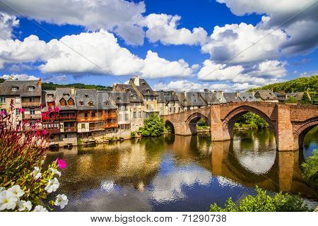 Espalion - pictorial village in southern France