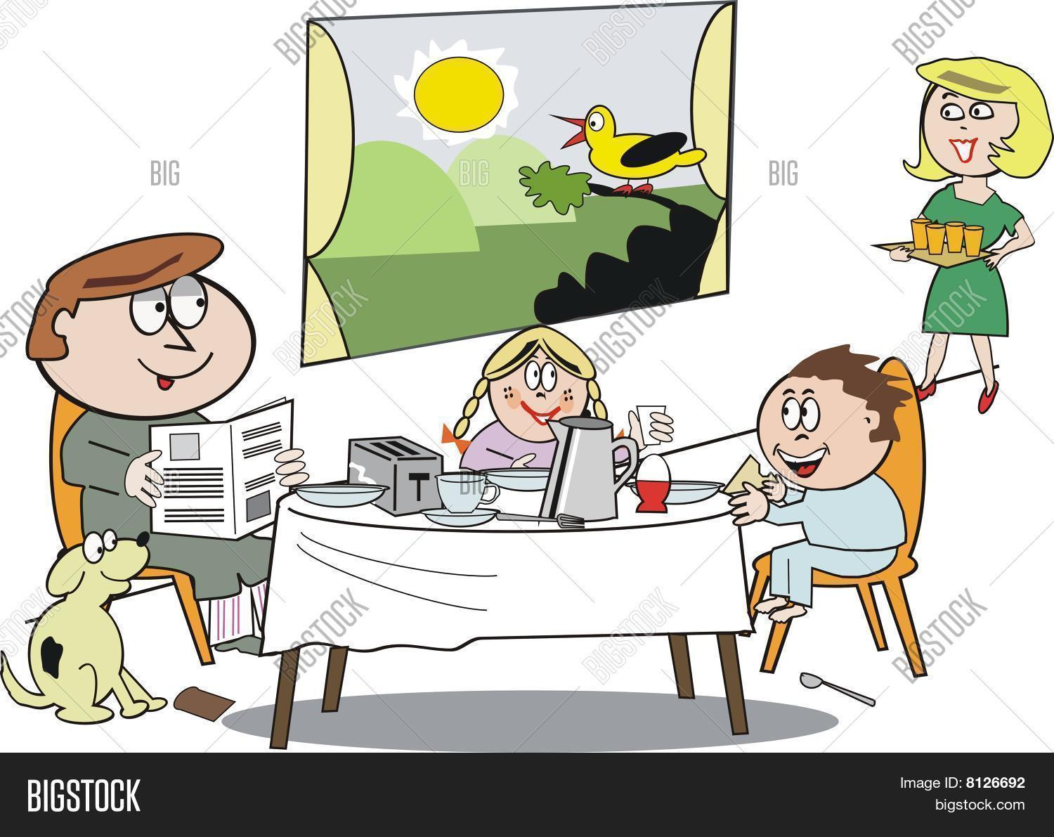 Family Breakfast Vector & Photo (Free Trial)