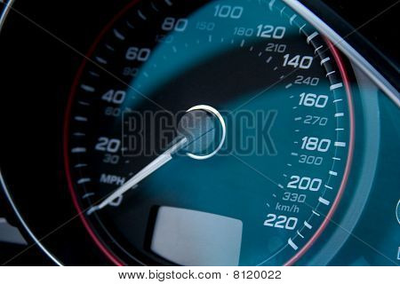 Speed Dial On Fast Expensive Modern Car