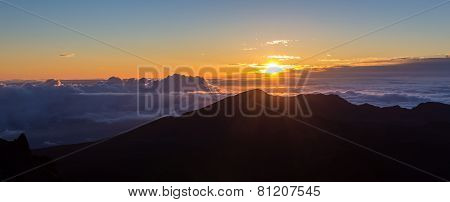 Sunrise At The Summit Of Haleakala