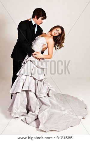 Attractive Young Couple Dancing