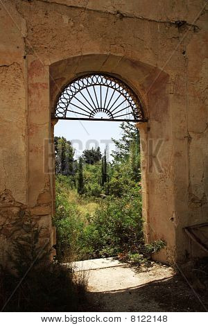 View Through The Monastery Window