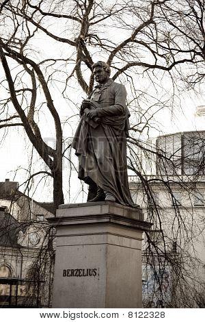 Berzelius Statue In Stockholm