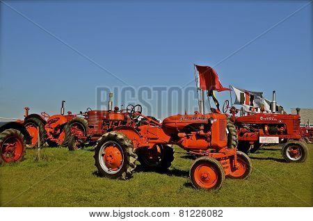 Classic Tractors at a Farm Show