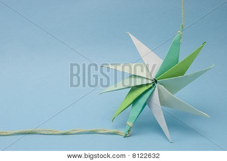 Decagon Star Shaped Origami Tied By Ends