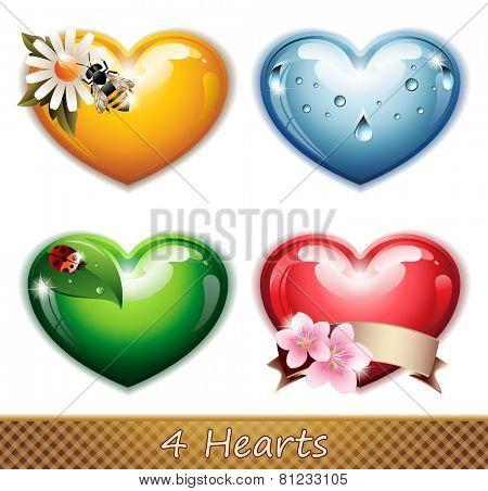 Four Hearts - EPS 10