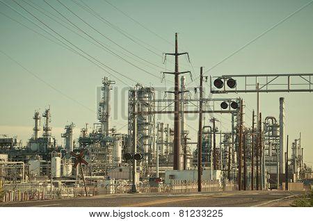 Oil Refinery In Denver, Colorado, Usa