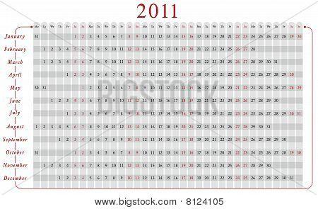 Calendar 2011