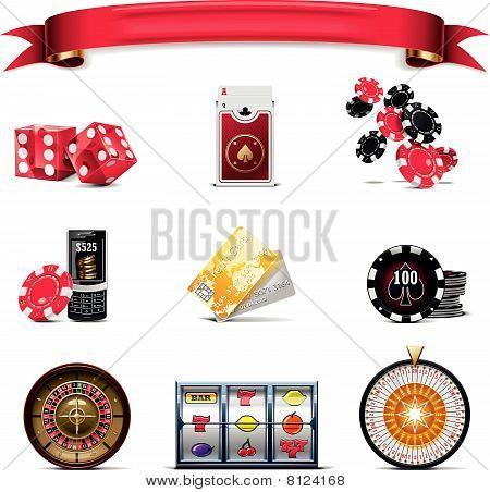 Vector gambling icon set. Part 2 (on white)