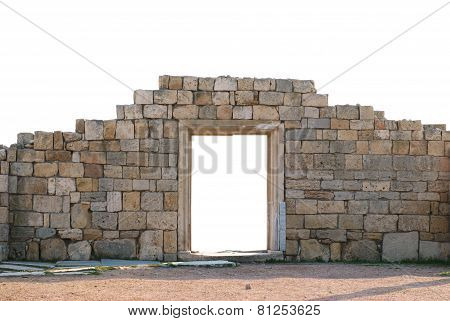 Ancient Wall With Door