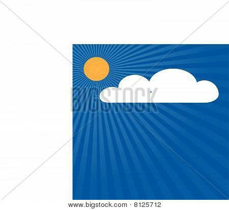 Sky with sun and cloud