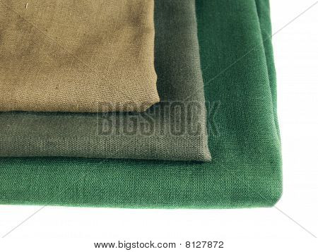 Green Flax On A White Background