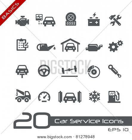 Car Service Icons // Basics