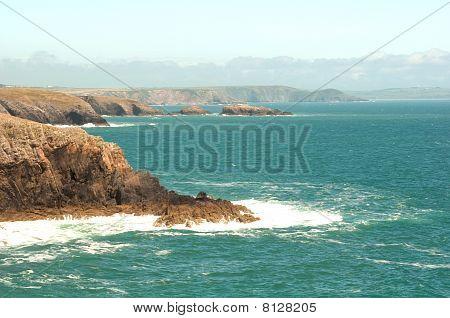 View Of Porth Clais Coastline