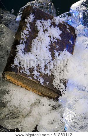 Frozen old scarce book