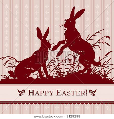 vintage easter card (vector)