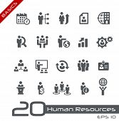 Icons Set of Human Resources and Business Management // Basics poster