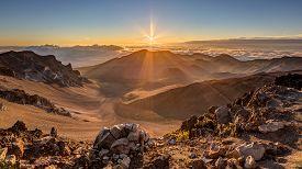 Sunrise at the summit of Haleakala, Maui, Hawaii
