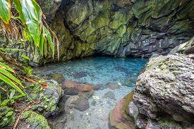 Fresh water caves  in the lava at Waianapanapa state park