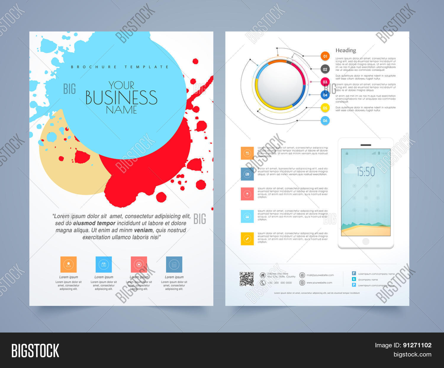 Creative infographic flyer vector photo bigstock for Infographic brochure template
