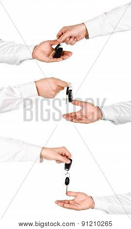 Collection Of Photos Male Hand Holding A Car Key