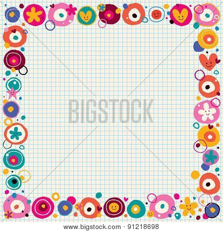 flowers & hearts border