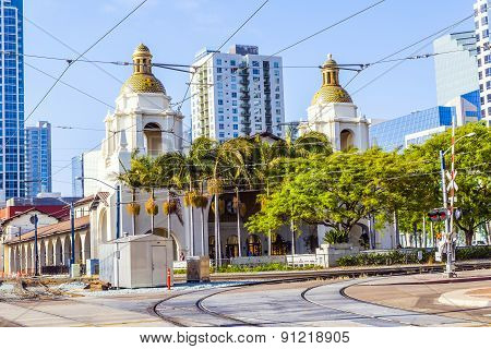 Famous Union Station In San Diego, Usa