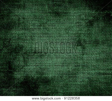Grunge background of cal poly green burlap texture