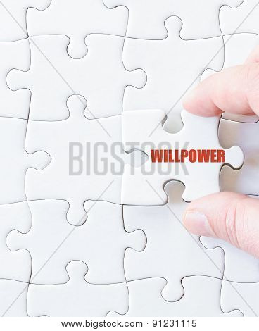 Last Puzzle Piece With Word  Willpower
