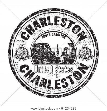 Charleston grunge rubber stamp