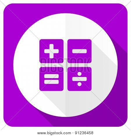 calculator pink flat icon calc sign