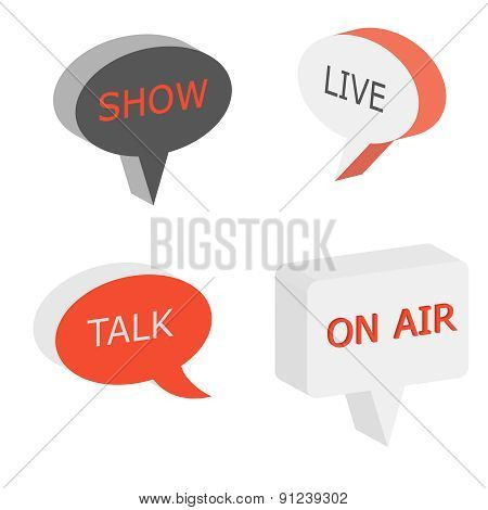 On Air Sign, Talk Show Symbol