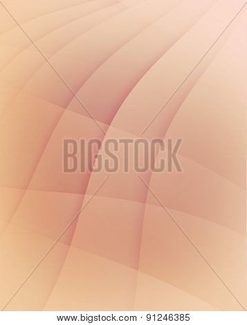 faded pink abstract background with wavy lines and layers design elements