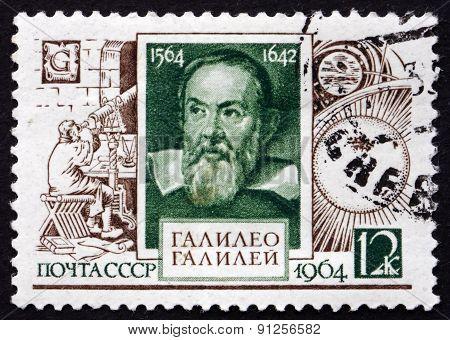Postage Stamp Russia 1964 Galileo Galilei, Astronomer