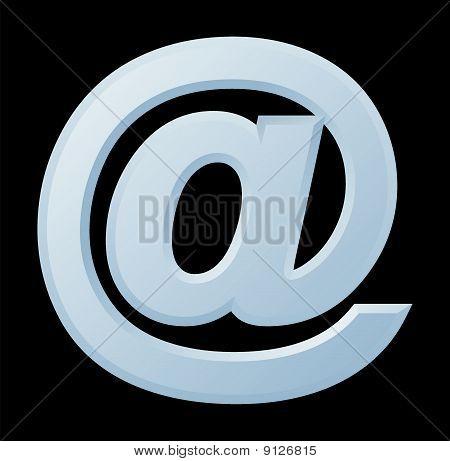 Image of Internet symbol @