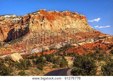 Capitol Reef Sandstone Mountain Water Pocket Capitol Reef National Park Torrey Utah