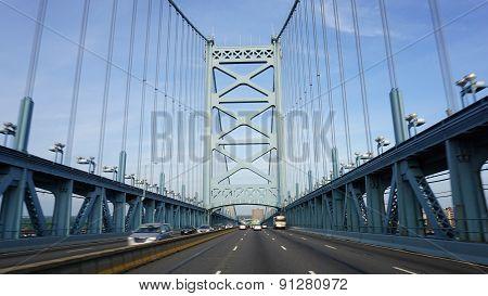 Benjamin Franklin Bridge in Philadelphia